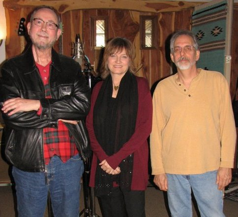 Jim Stricklan, Christine Albert and George Coyne at Parrot Tracks Studio
