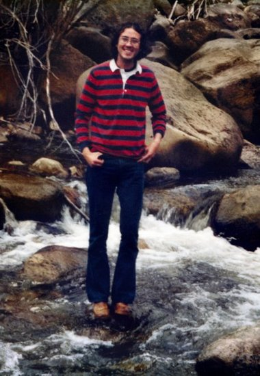 Jim in mountain stream near Aspen 1970's - photo by V. Sarbell